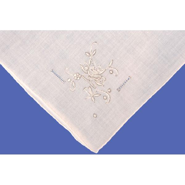 White Flower Handkerchief